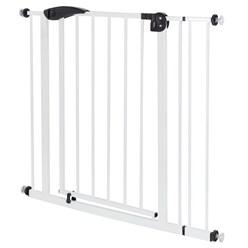 Türschutzgitter weiß, 85-95 cm, ohne Bohren, aus pulverbeschichtet Metall
