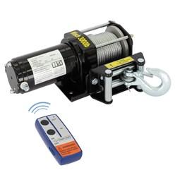 Elektrische Seilwinde 12V mit Fernbedienung und Mobilteil
