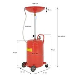 Ölabsauggerät mit Druckluft, 75L Tank