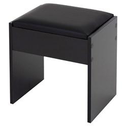 Schminktisch mit Hocker, schwarz, 108x40x140 cm, aus MDF Holz