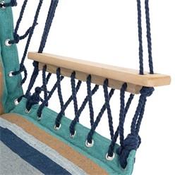 Hängesessel Mehrfarbig, 45x100x43 cm, aus Baumwolle und Hartholz