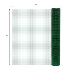Volierendraht, grün, aus verzinktem Stahl, Drahtstärke 0,7 mm, Länge 10 m