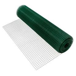 Volierendraht, grün, aus verzinktem Stahl, Drahtstärke 0,7 mm, Länge 25 m