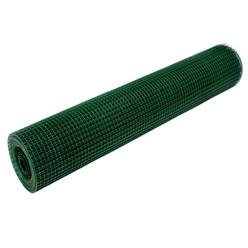 Volierendraht, grün, aus verzinktem Stahl, Drahtstärke 0,75 mm, Länge 25 m