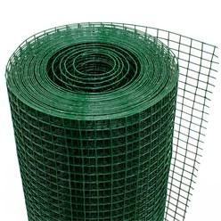 Volierendraht, grün, aus verzinktem Stahl, Drahtstärke 1,2 mm, Länge 25 m