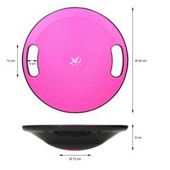 Balance Board für Fitnesstraining, pink/schwarz, Ø 40 cm