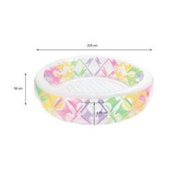 Intex Family Pool rund, Ø 229x56 cm, Transparent mit mehrfarbigen Elementen, aufblasbar