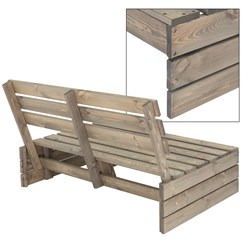 Gartenbank 3-Sitzer, grau, 120x76,5x80 cm, aus Massivholz