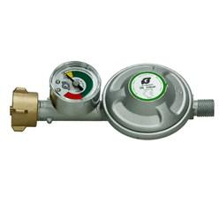 Régulateur de pression gaz 50mbar + manometre indicateur de remplissage raccord