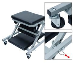 2 in 1 Montage-Rollbrett und Werkstatthocker, bis 150 kg als Rollliege und bis 120 kg als Sitz