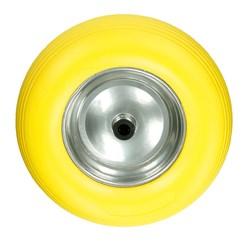 Schubkarrenrad Vollgummi Gelb 390 mm