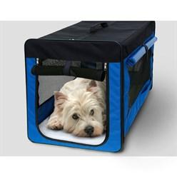 Hundebox faltbar S Blau