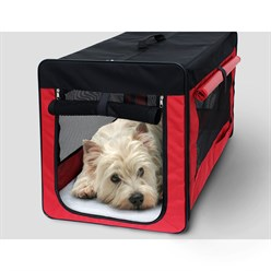 Hundebox faltbar S Rot