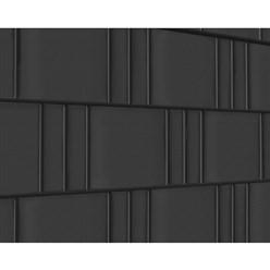 PVC Sichtschutzstreifen 35 m mit 20 Befestigungsclips Anthrazit