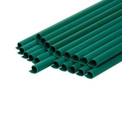 PVC Sichtschutzstreifen Rolle 35 m mit 20 Befestigungsclips Grün