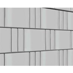 Sichtschutzstreifen für Stabmattenzaun Weiß 35 m