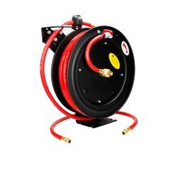 Automatischer Profi Druckluft Schlauchtrommel mit Aufroller 15 m, 300 psi (20 bar)
