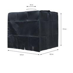 Abdeckplane für Wassertank 1000 L mit Lochauschnitt in Schwarz