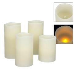 LED-Kerzen Echtwachs mit Fernbedienung Set 5-teilig