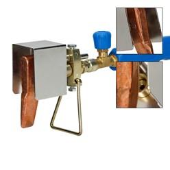 Kupferlötkolben mit Gasdruckschlauch 150 cm
