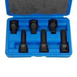 """6 Clés à douilles M14 M16 M18 noix à chocs à écrou 1/2"""" visseuse clé à cliquet"""