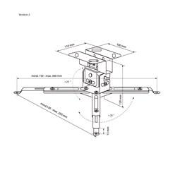 Deckenhalterung für Beamer & Projektoren