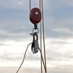 Poulie de mouflage ouvrante 10t acier treuil guide câble poids 3,5 kg remorquage