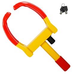 Radkralle mit Sicherheitsschloss und 2 Schlüsseln, für PKW Wohnwagen Anhänger, Reifenbreite 17-26 cm