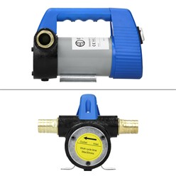 """Dieselpumpe 12 V 3 bar inkl. 2x Messingtülle 3/4"""" A/G und 1x Grobsieb, aus Aluminium"""