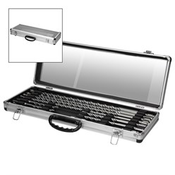 Steinbohrer Set 11 Teilig SDS Plus inkl. Koffer aus Aluminium