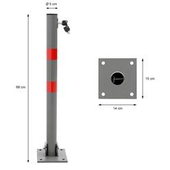 Absperrpfosten aus Stahl ca. 68cm Rund Anthrazit-Rot klappbar