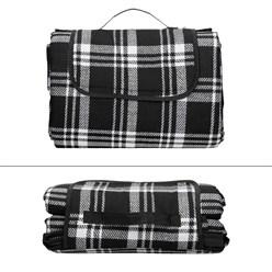 Picknickdecke 200 x 200 cm Schwarz