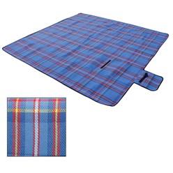 Picknickdecke 200x200cm Blau