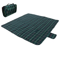 Picknickdecke 200x200cm Dark Green
