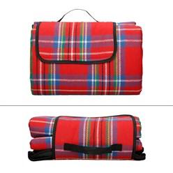 Picknickdecke 200x200cm Rot