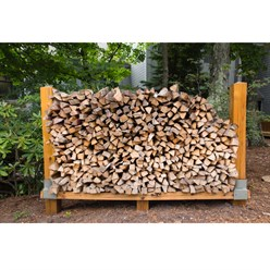 Kit 2x support d'empilage du bois de chauffage cheminée étagères de bois en fer