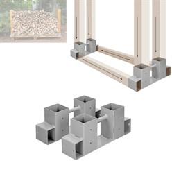 Brennholz-Stapelhilfe 2 Stück