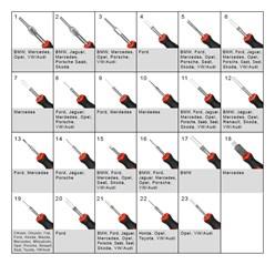Entriegelungswerkzeug 23 Teilig, mit Kunststoffgriff