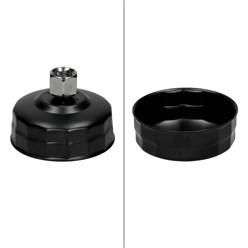 Universal Ölfilterkappen Set 15 Teilig inkl. Adapter im Werkzeugkoffer