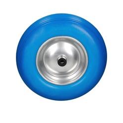 Schubkarrenrad Vollgummi PU Blau 4.80/4.00-8 390mm