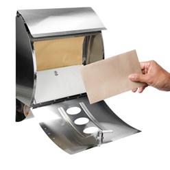 Briefkasten Edelstahl lackiert