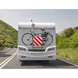 2 in1 Warntafel Spanien / Italien Aluminium 50 x 50 cm