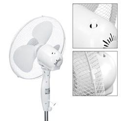 """2x Ventilateur oscillant sur pied piédestal électrique 16"""" ventilateur d´air 45W"""