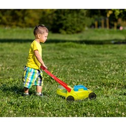 Kinder Rasenmäher mit Grasfangbox