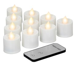 10 LED Teelichter mit Fernbedienung