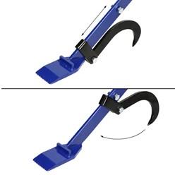 Fällheber mit Wendehaken, 120 cm, aus Stahl mit gummierten Handgriff