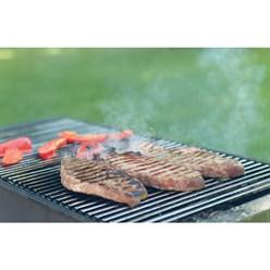 Grille de barbecue BBQ avec double manche dimension 60x40cm en acier inoxydable