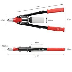 Hebelnietzange 3.2mm - 6.4mm Nieten