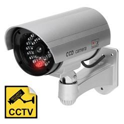 Caméra de surveillance fausse dissuasive imperméable lumière rouge clignotante