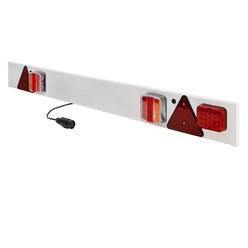 LED PKW Anhänger Lichtleiste 7-Polig Stecker 137x14 cm 12V